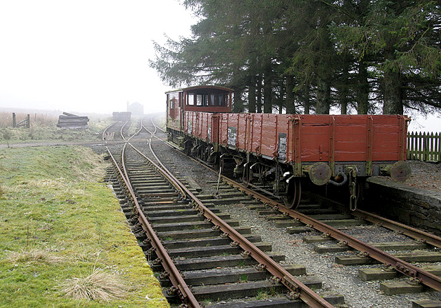 Rolling stock at Saughtree Station