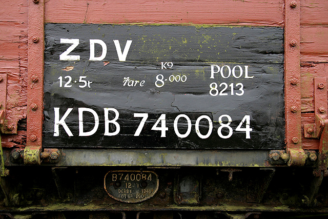 A goods truck detail at Saughtree Station