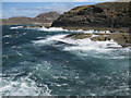 NM4167 : Rough sea at Ardnamurchan Point by Bob Jones