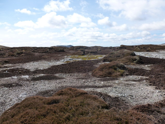 Eroded peat hags on Auchnafree Hill