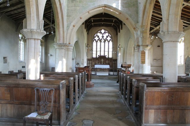 Interior, St Nicholas' church, Walcot