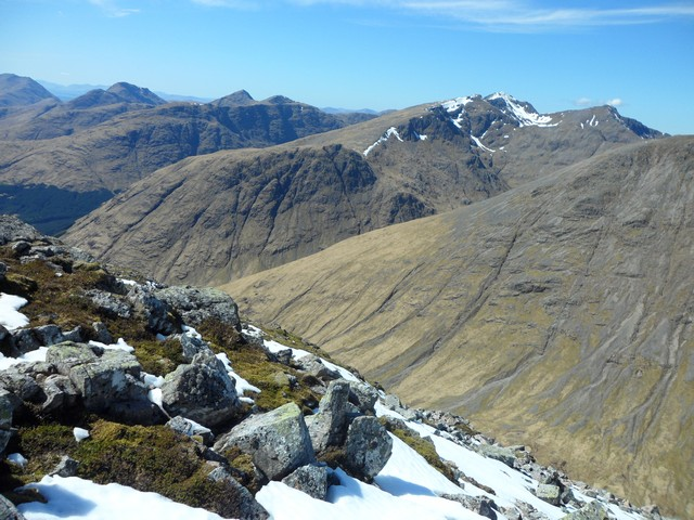 Mountains of Glen Coe from Stob na Broige