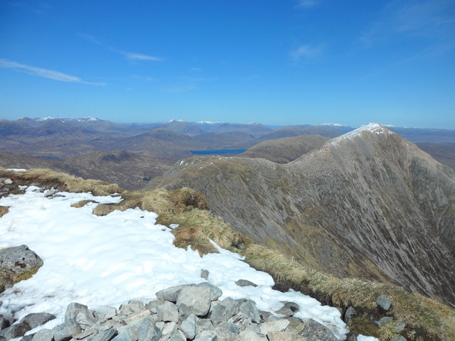 NE view from summit of Stob na Doire