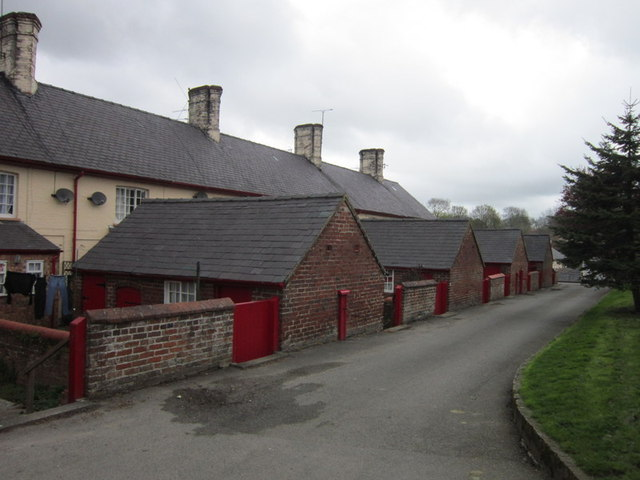 Rear of the estate cottages at Sledmere