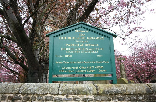 St Gregory, Bedale - Noticeboard