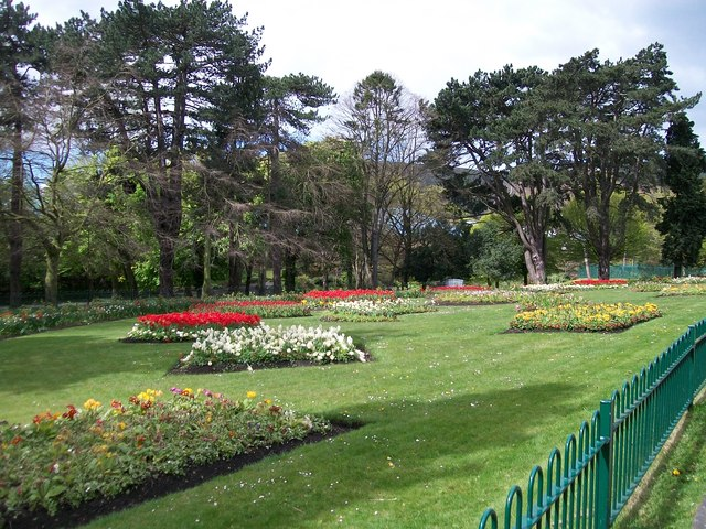 Floral displays at Falls Park