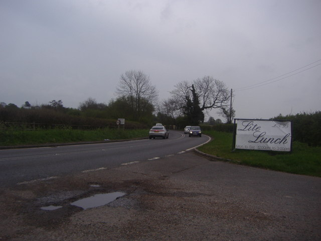 Epping Road at the junction of Penson's Lane