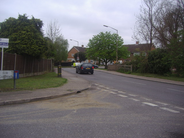Elm Gardens at the junction of High Road North Weald Bassett