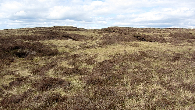 Peat workings on Beinn Ghuilean