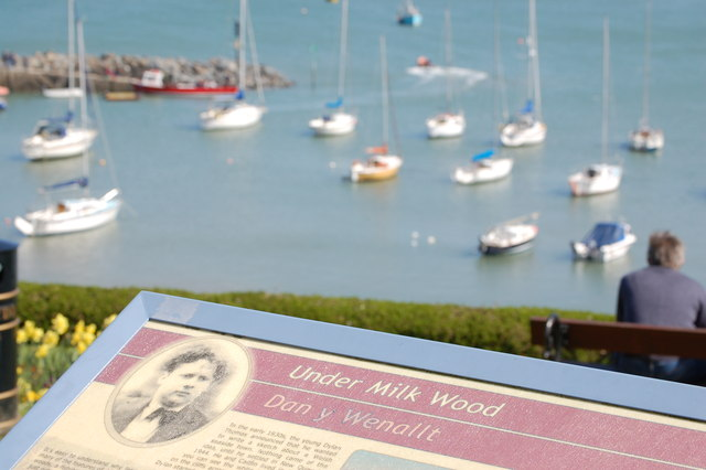 Dylan Thomas trail in New Quay