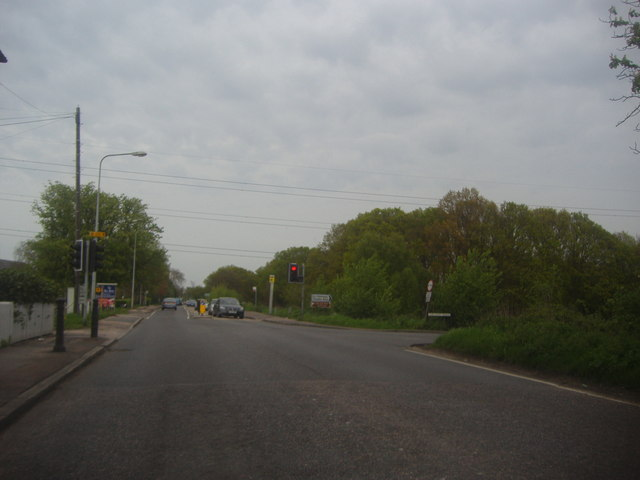 The junction of High Road and Theydon Road, Epping