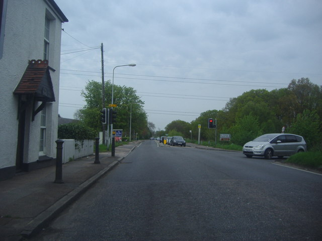 High Road at the junction of Theydon Road
