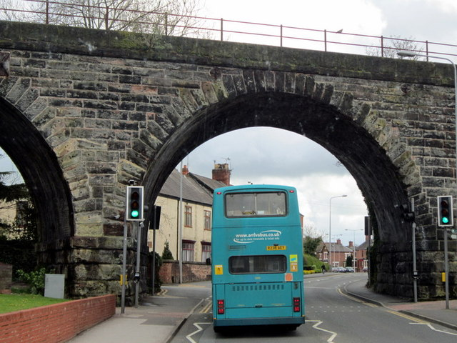 The rail bridge on London Road, Northwich