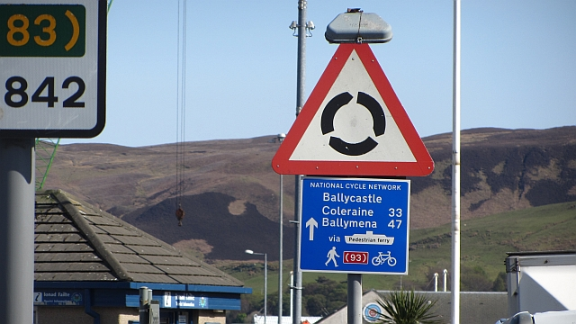National Cycle Network sign, Campbeltown