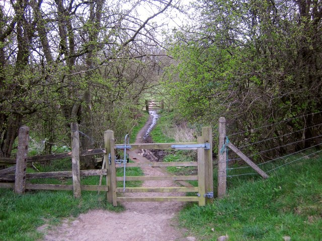 Bridleway crossing former railway