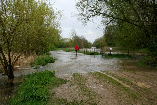 River Roding breaks its banks