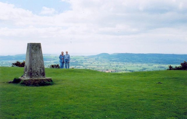 Trig point on Pilsdon Pen