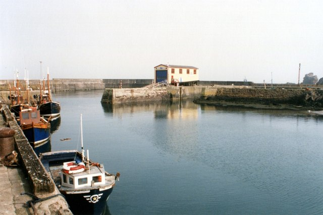 Lifeboat house in St Abbs harbour