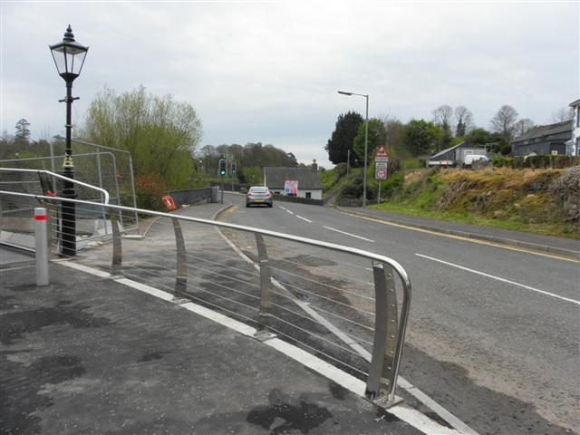 Approach to new footbridge, Omagh