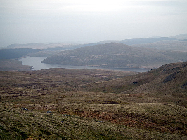 A view towards Nant-y-moch from the slopes of Plynlimon