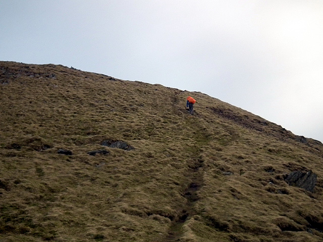 Nearing the summit of Plynlimon/Pumlumon Fawr