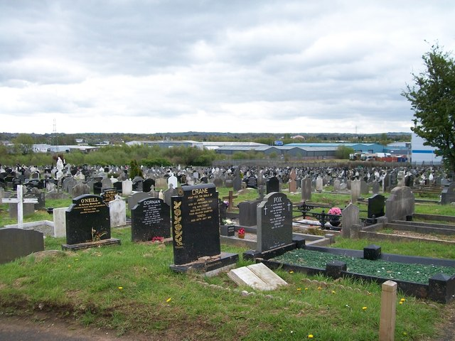 Acres of graves - view across the south-eastern section of Milltown