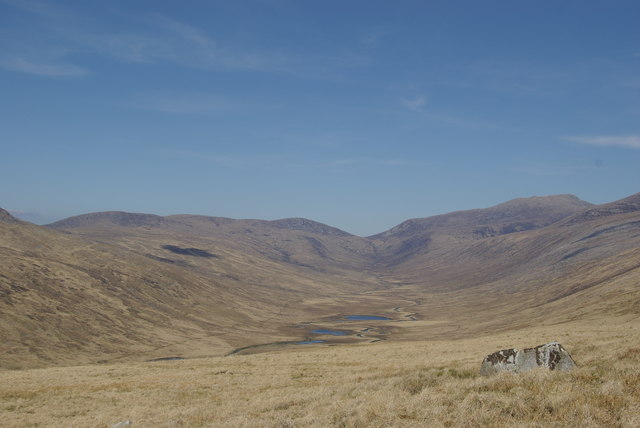 Moorland east of Beinn Chaorach