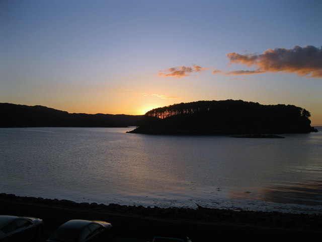 Sunset over Shieldaig Island