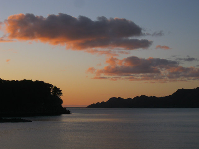 Sunset over Loch Shieldaig