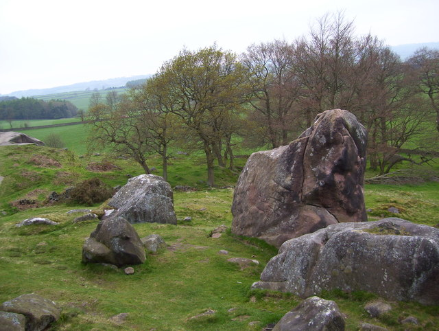 Rocks near Robin Hood's Stride