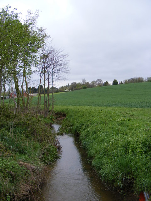 Stream at the entrance to Hillhouse Farm