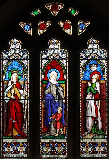 St Michael, Well - Stained glass window