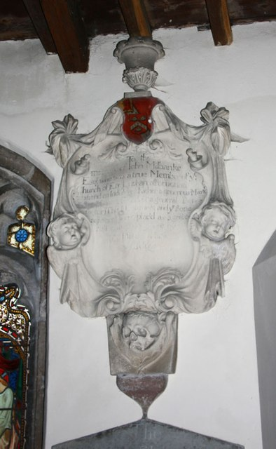 St Michael, Well - Wall monument