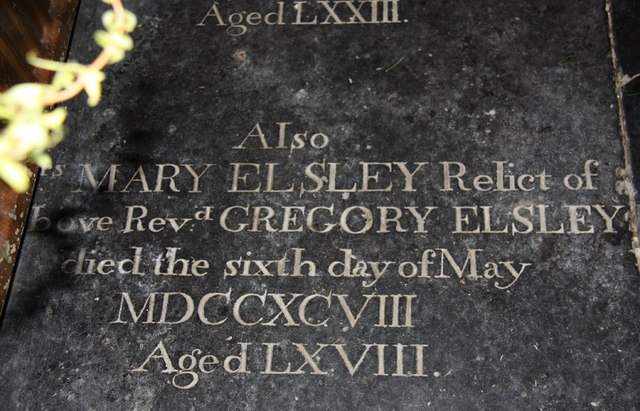 St Lambert, Burneston - Ledger slab
