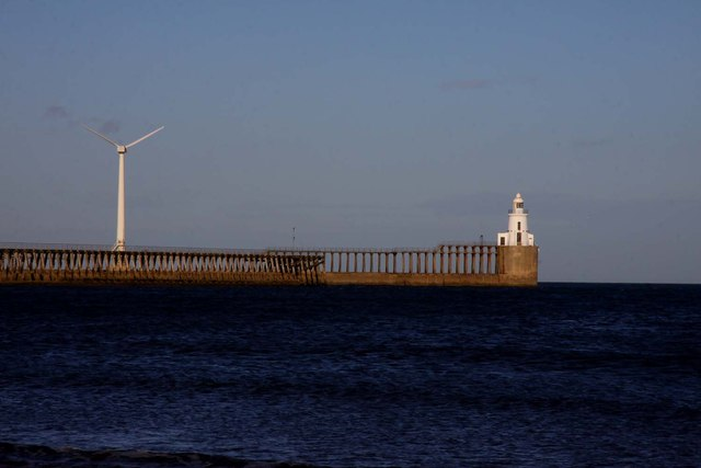 Lighthouse at the entrance to Blyth Harbour