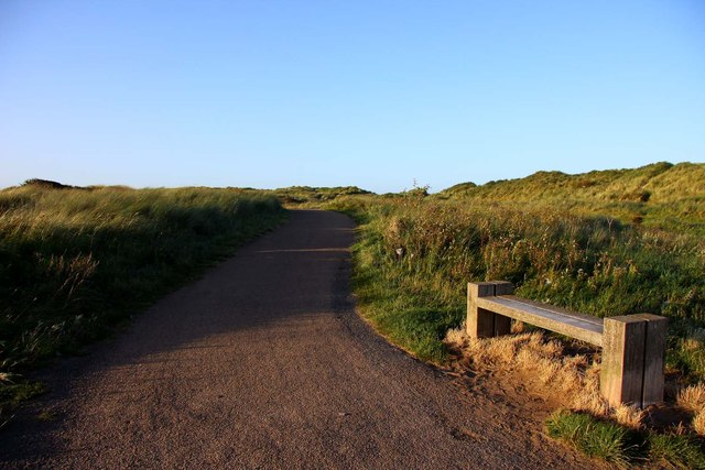 Path to Blyth through the dunes