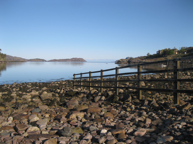 Fence on Shieldaig shore