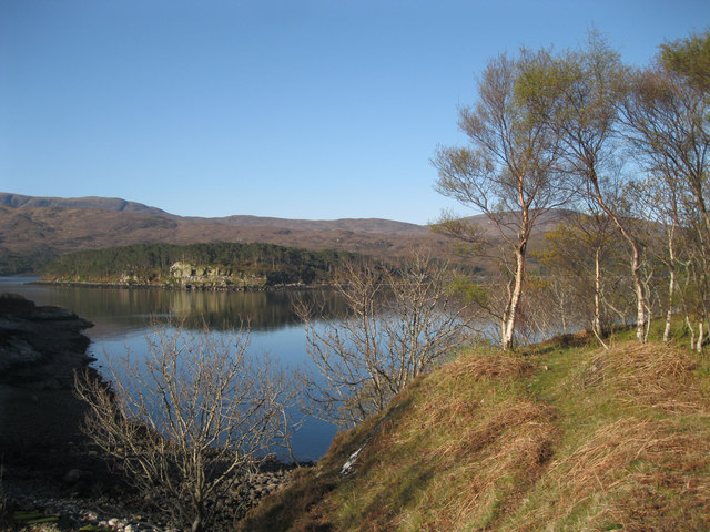 Across Loch Shieldaig to the island
