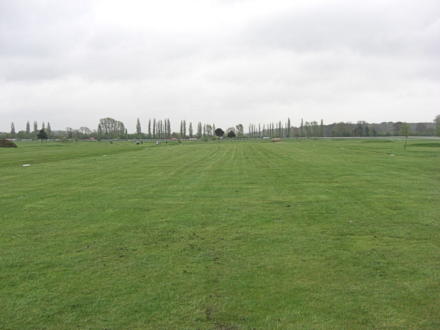Racecourse landing strip