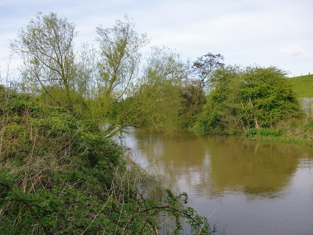 The River Mole, west of Island Barn Reservoir