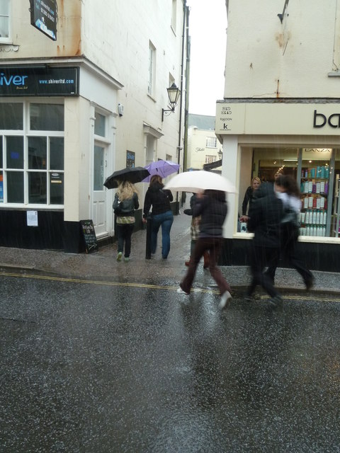 Hailstorm in Sidmouth