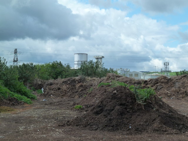 Compost site and gas turbine power plant