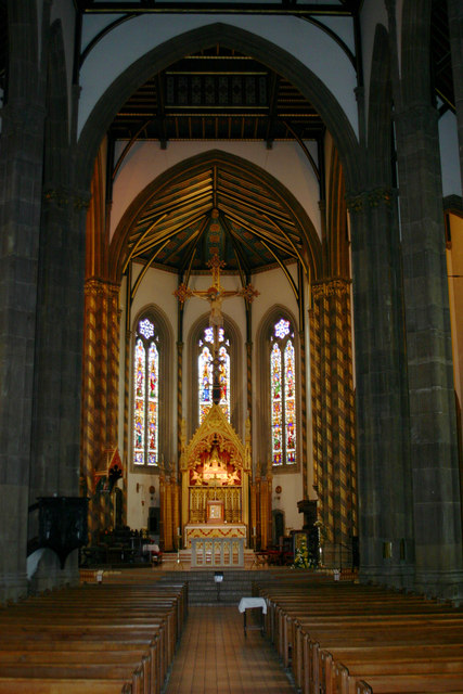 St Chad's RC Cathedral, interior