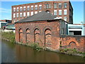 SJ9297 : Brickwork, Ashton Canal by John Topping