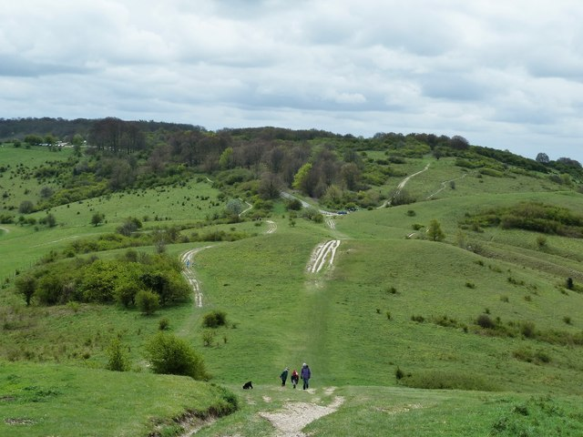 The Ridgeway descending Ivinghoe Beacon