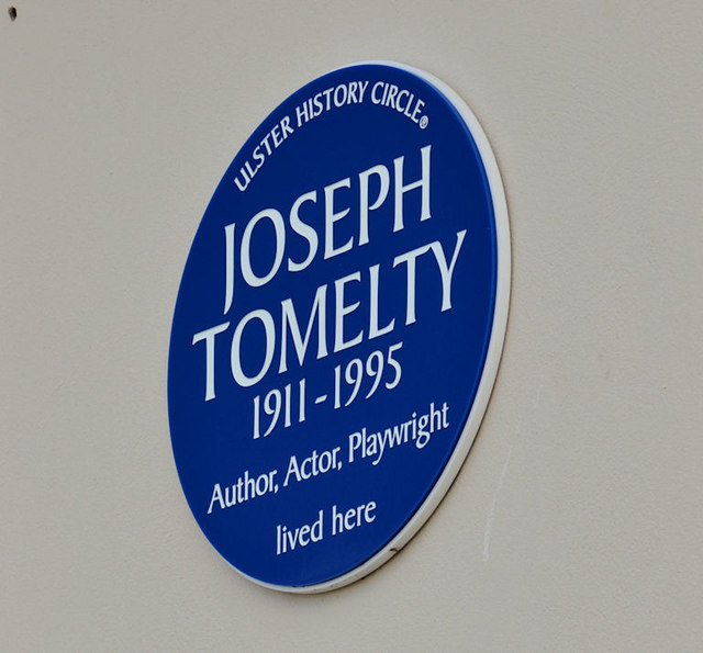 Joseph Tomelty plaque, Portaferry