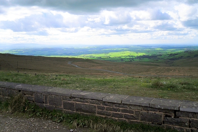 View across the A686 from Hartside Top