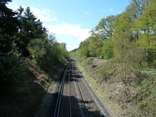 Looking west from Langley Bridge