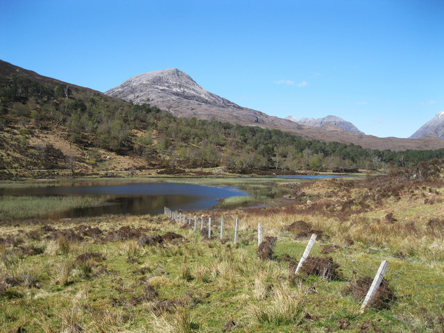Fence leading to Loch Coulin