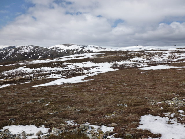 South-west of Carn Liath's western summit